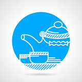 Tea ceremony round vector icon