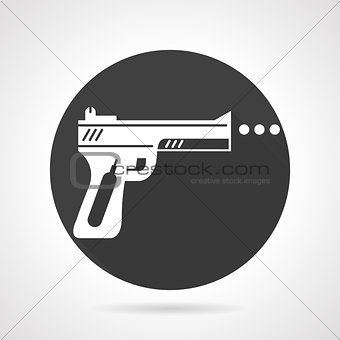 Airgun black round vector icon