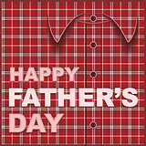 Template cards for fathers day. Plaid shirt