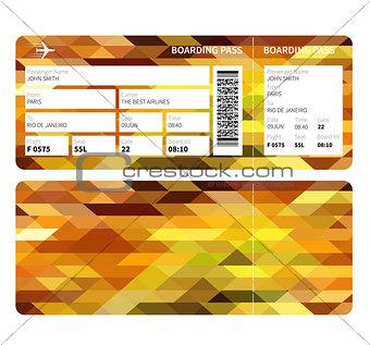 Gold boarding pass