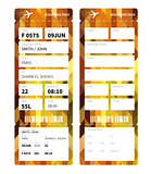 Gold boarding pass