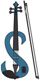 Blue electric violin