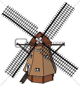 Classic dutch windmill