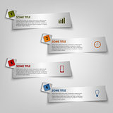 Info graphic to light stripe stickers template