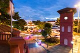 Dutch Square after sunset, Malacca