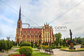Catholic Church in Gervyaty, Grodno region, Belarus.