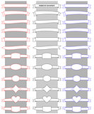 Vector illustration ribbon banner set