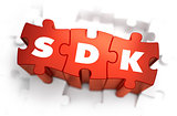 SDK - Text on Red Puzzles.