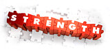 Strength - Text on Red Puzzles.