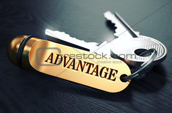Advantage written on Golden Keyring.