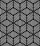 Hexagons and diamonds op art pattern.