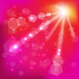 Pink Sun Background