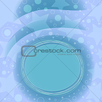 Blue background with dots and stars