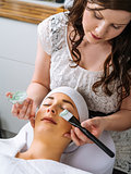 Facial in the salon