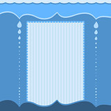 Modern blue background with drops and stripes