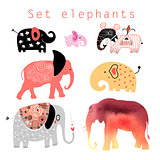 set of elephants