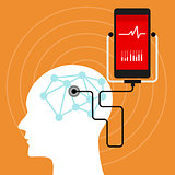 mental brain health monitoring mobile phone