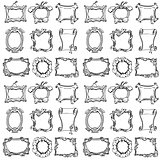 Doodle frames. Seamless pattern.