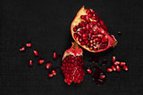 Luxurious pomegranate background.
