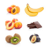 Ripe fresh fruit collection