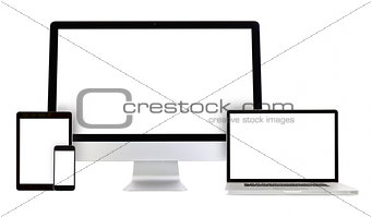 Modern monitor computer, laptop, smartphone, tablet pc