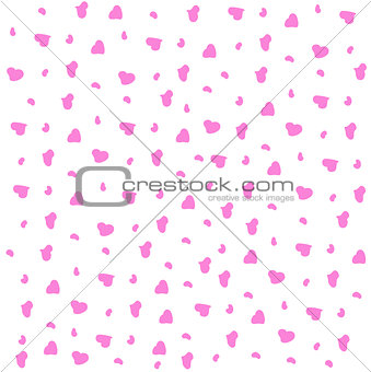 Baby background hearts pink seamless