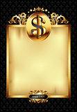 ornate frame with dollar symbol