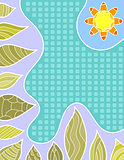 Colorful vector background with flower and leafs