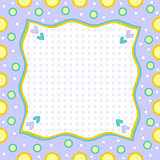 Colorful modern background with hearts and dots
