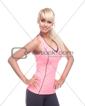 portrait of young fitness woman