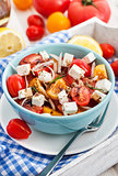 Fresh tomato, onion and feta  salad