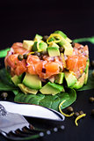 Salmon and avocado tartare