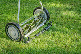 hand lawn mower close up