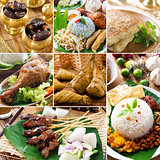 Collage delicious ramadan food