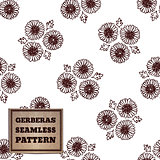 Seamless pattern with bouquet of gerberas