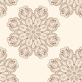 Seamless pattern with round ornament