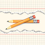 Pair of pencils.