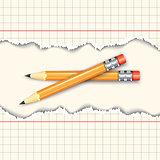 Pair of pencils.