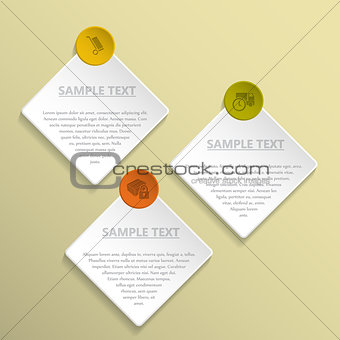 Abstract rhomb and circle infographic design