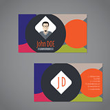 Business card with circle bubble elements