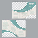 Tri-fold flyer brochure design template