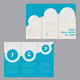 Cool ring design tri-fold brochure template