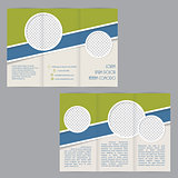 Tri-fold brochure template design with flat elements