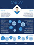 Curriculum vitae resume in blue and white