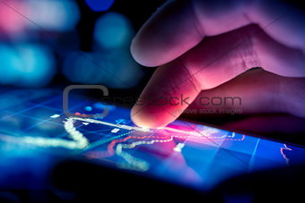 Businessman Checking Data