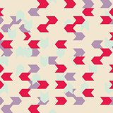 Chevron seamless colorful vector pattern or tile background