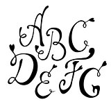 Hand drawn vector letters
