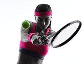 woman tennis player portrait silhouette