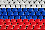 Seats in the colors of the Russian flag