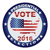 Vote 2016 USA Presidential Election Button Illustration